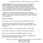 CATWA 2002 'day of no prostitution' conference program